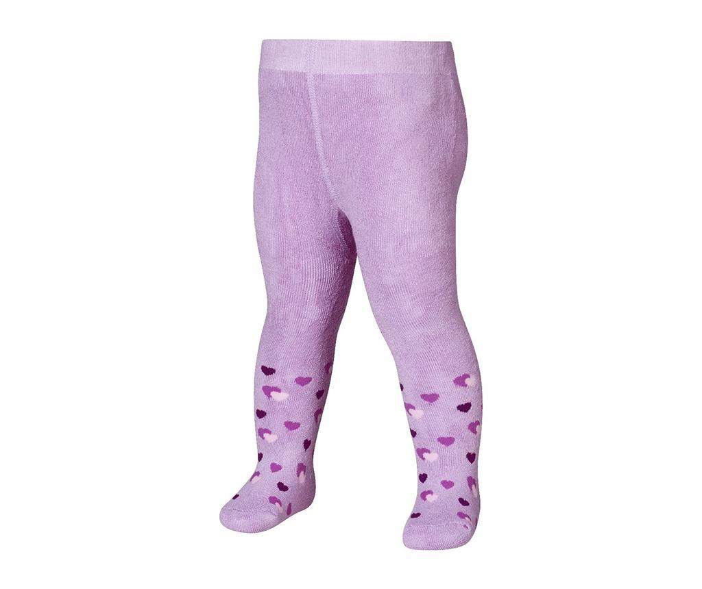 Dětské punčocháče Hearts Lilac 12-18 měs.