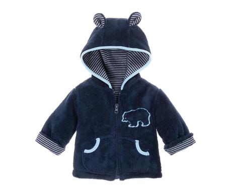 Otroška jopica s kapuco Teddy Navy 8 mesecev