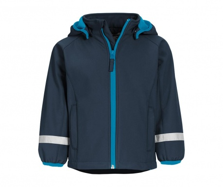 Otroška vodoodporna jakna Warmshell Navy 12 mesecev