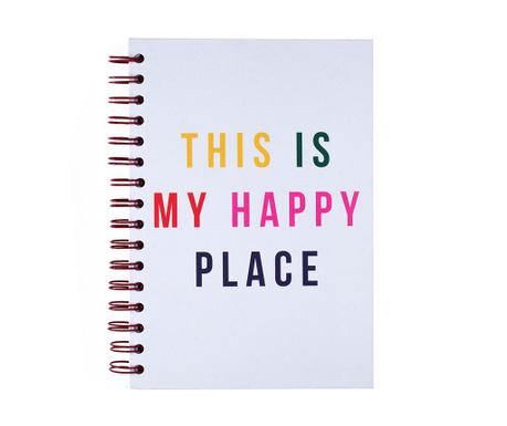 Beležka s spiralno vezavo Happy Place
