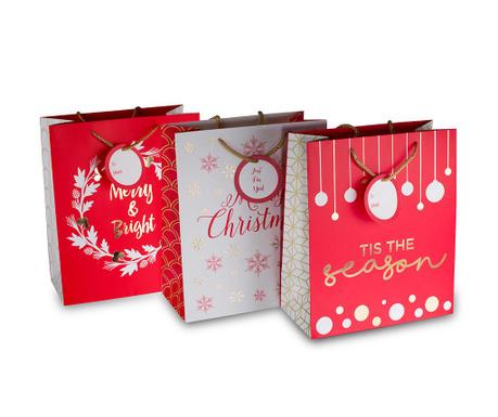 Set 3 darilnih vrečk Christmas