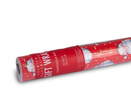 Rola darilnega papirja Santa