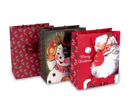 Set 3 darilnih vrečk Santa