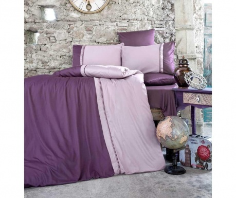 Lenjerie de pat King Satin Supreme Kharma Purple
