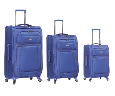 Set 3 kovčkov na kolesih Canterbury Blue