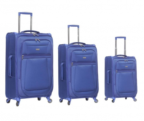 Set 3 putne torbe s kotačićima Canterbury Blue