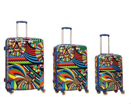Zestaw 3 walizek na kółkach Carnival
