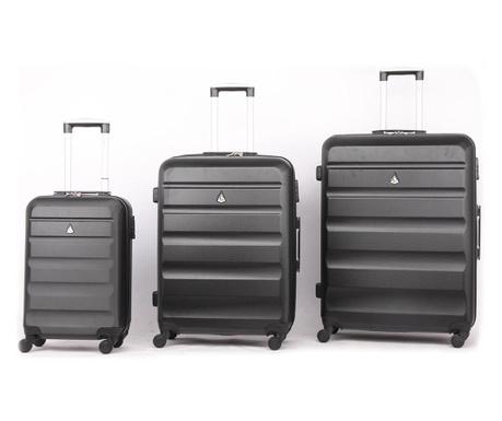 Zestaw 3 walizek na kółkach Adrienne Black
