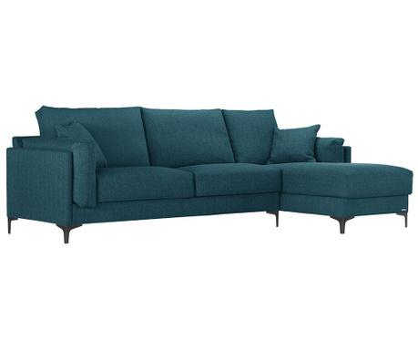 Rohová pohovka pravostranná Desire Turquoise