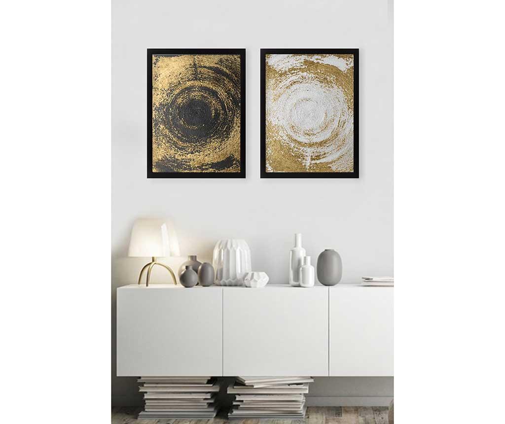 Set 2 slik Circles Golden 34x44 cm