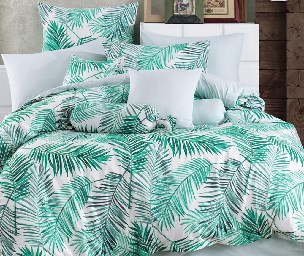 Posteljina King Ranforce Palms Green 200x220