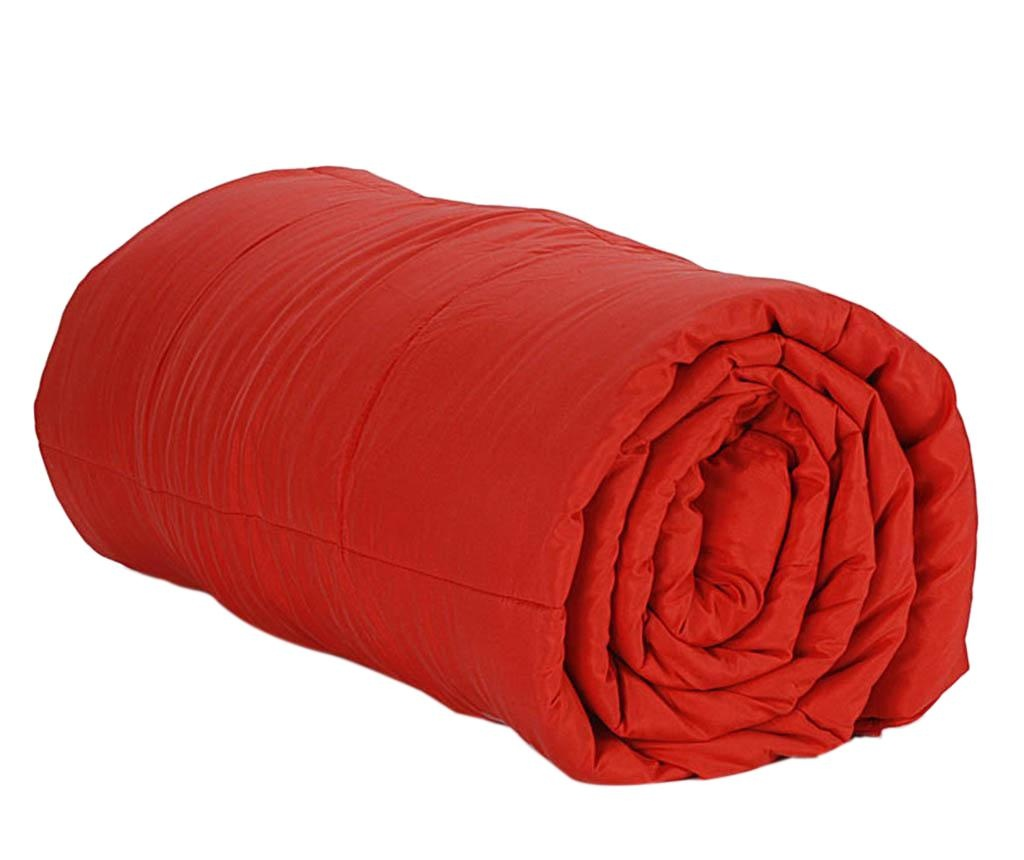 Prešita odeja Combi Red 220x220 cm