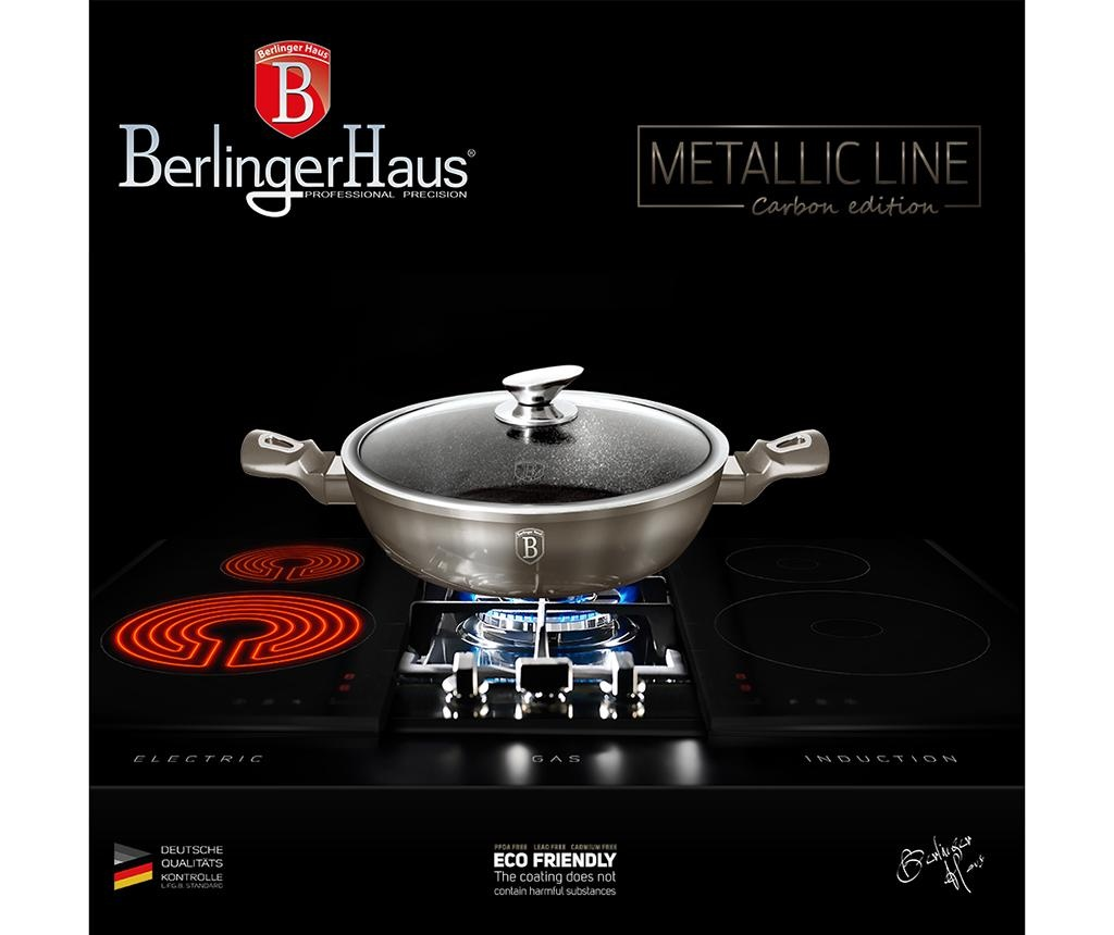 Posuda za kuhanje s poklopcem Metallic Carbon 2.3 L