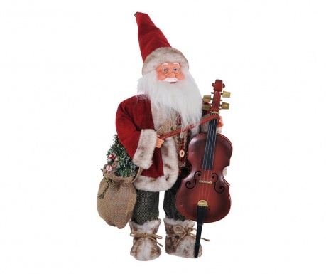 Decoratiune Red Santa Double bass
