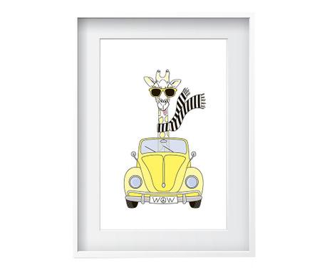 Obraz Giraffe 24x29 cm
