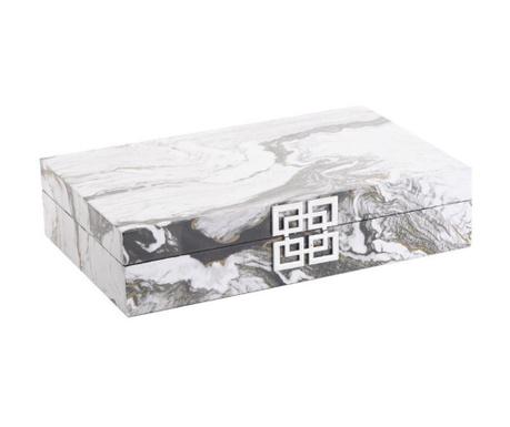 Кутия с капак Meredith White Black