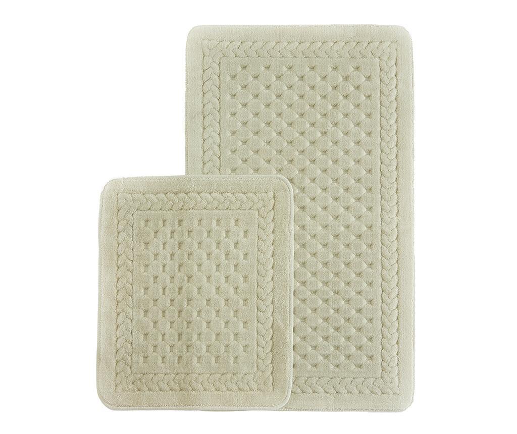 Lace Beige 2 db Fürdőszobai szőnyeg