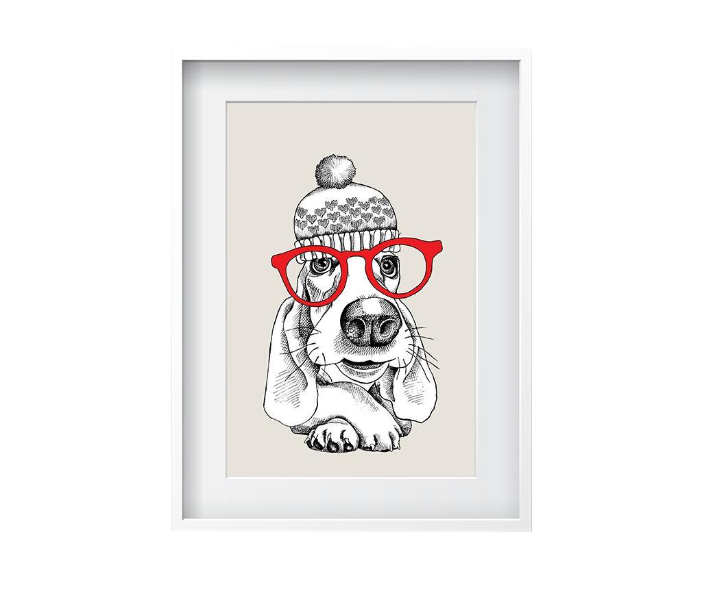 Tablou Smart Dog 24x29 cm