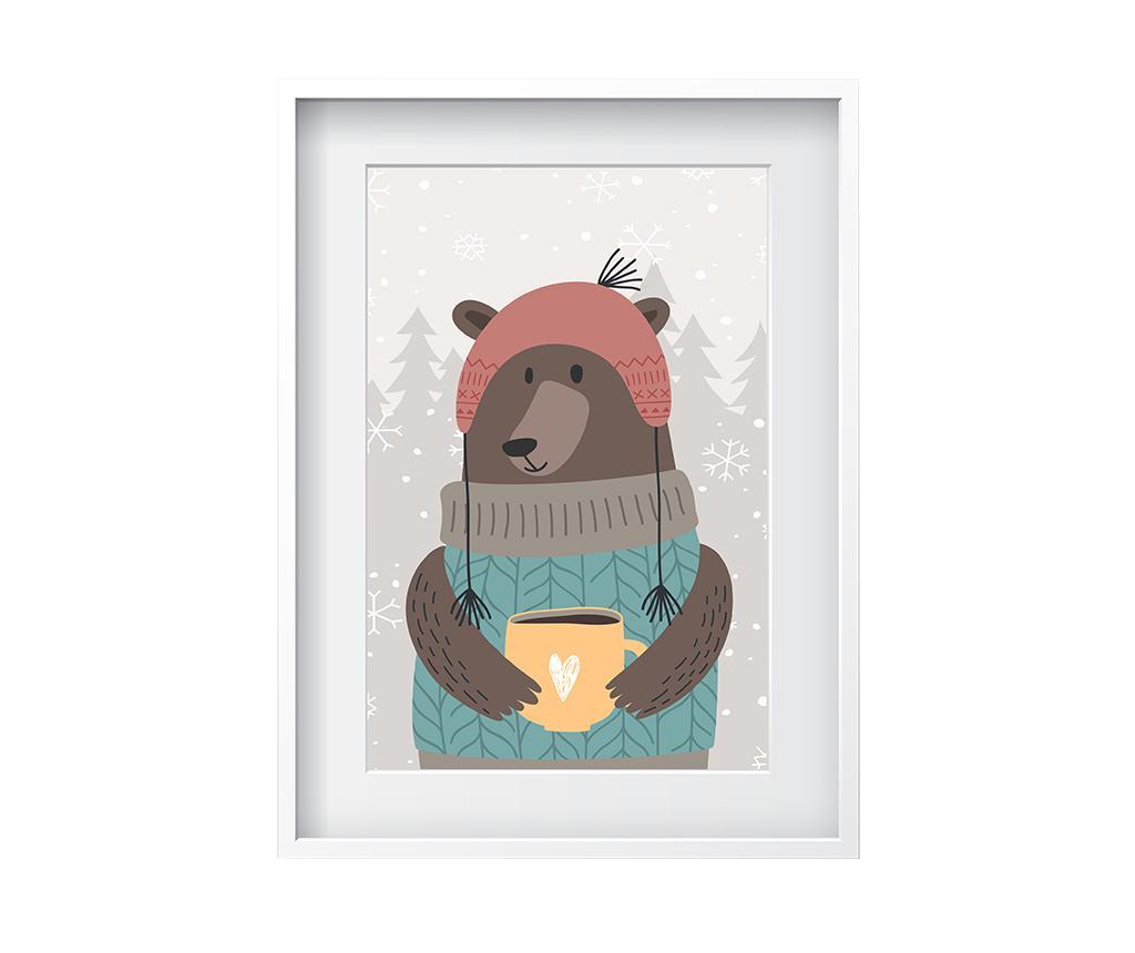 Tablou Coffee Cup Bear 24x29 cm