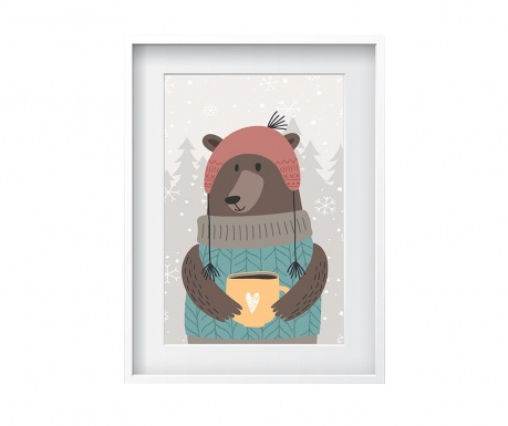 Tablou Coffee Cup Bear 24x29 cm