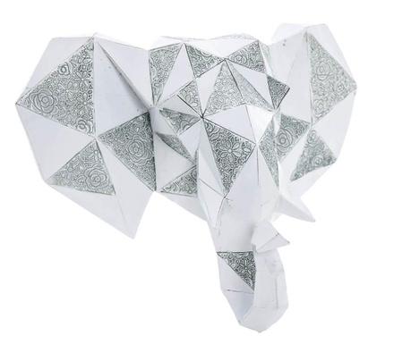 Elephant Head Grey Fali dekoráció