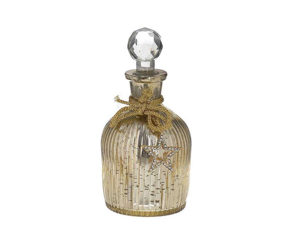 Sticla decorativa cu dop Golden Touch