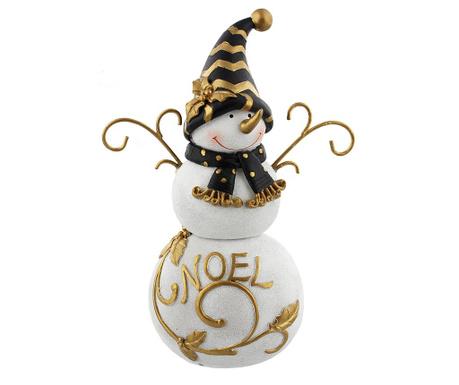 Dekorácia Snowman Gold