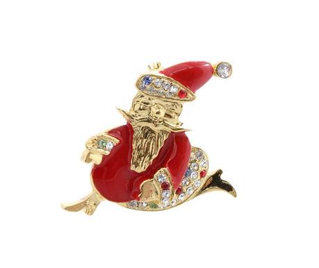 Broszka Santa Golden