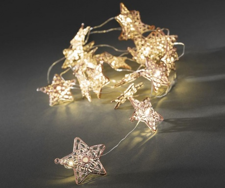 Ghirlanda luminoasa Stars Copper 190 cm