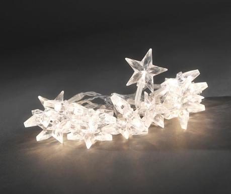 Φωτεινή γιρλάντα Transparent Stars 190 cm