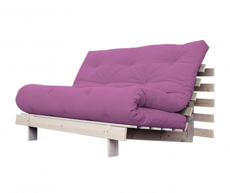 Sofa extensibila Roots Natural and Taffy Pink 140x200 cm