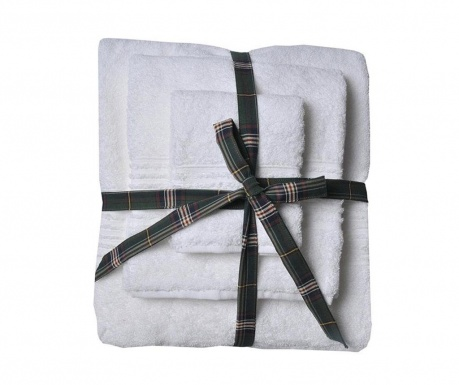 Комплект 3 кърпи за баня Downtown White