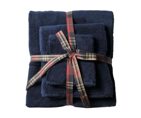 Комплект 3 кърпи за баня Chicago Navy