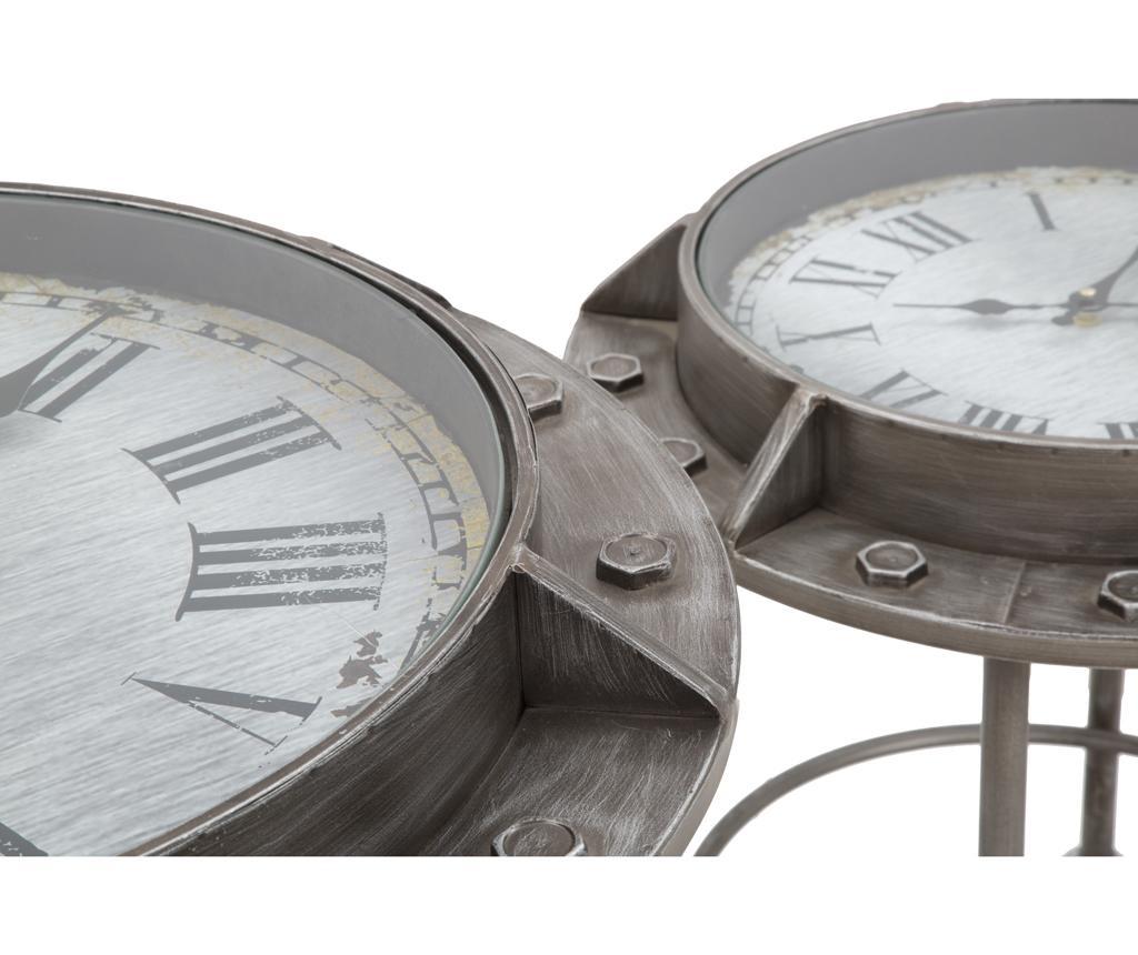Set 2 masute de cafea cu ceas Bolt