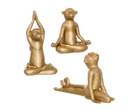 Set 3 ukrasa Monkey Yoga