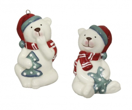 Set 2 decoratiuni Polar Bears