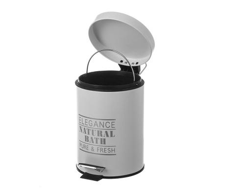 Кош за отпадъци с капак и педал Elegance Fresh Light Grey 3 L