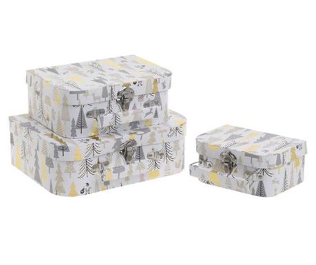 Zestaw 3 pudełek typu walizka Stella