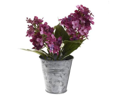 Umjetni cvijet u posudi Liliac