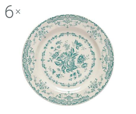 Сервиз 6 плитки чинии Rose Turquoise