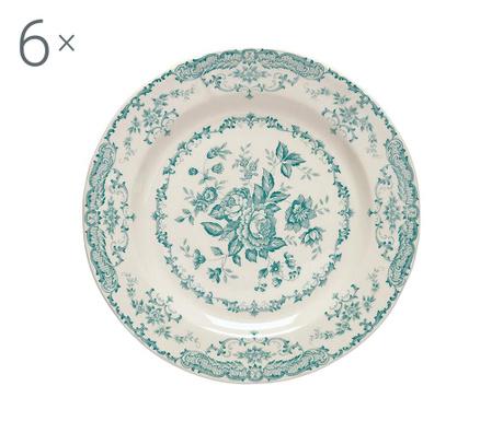 Сервиз 6 дълбоки чинии Rose Turquoise