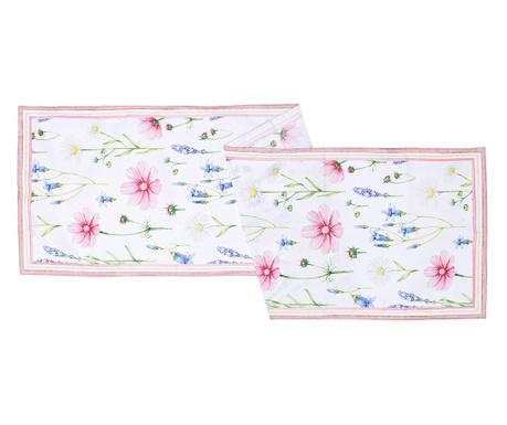 Stredový obrus Floral Pink 40x150 cm