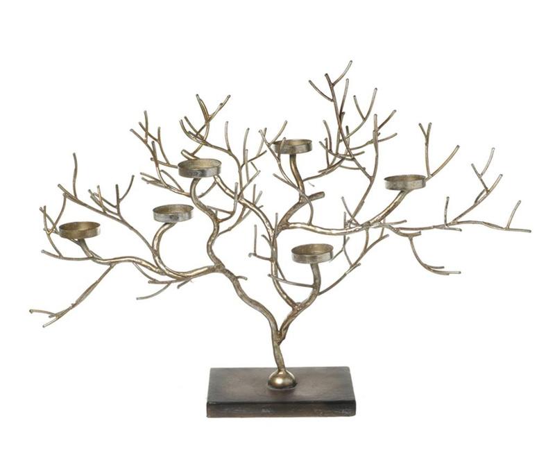 Svečnik Golden Tree