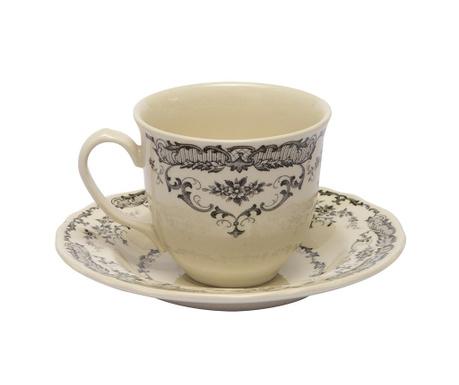 Сервиз 6 чашки и 6 чинийки за чай Rose Black