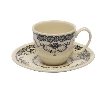 Сервиз 6 чашки и 6 чинийки за кафе Rose Black