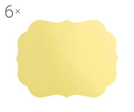 Комплект 2 подложки за хранене Romantic Yellow 33.5x43.5 см