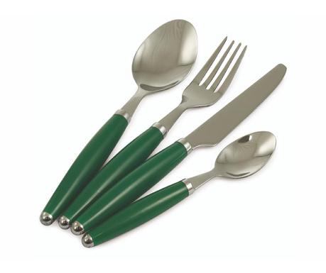 24-dijelni  pribor za jelo Goccia Green