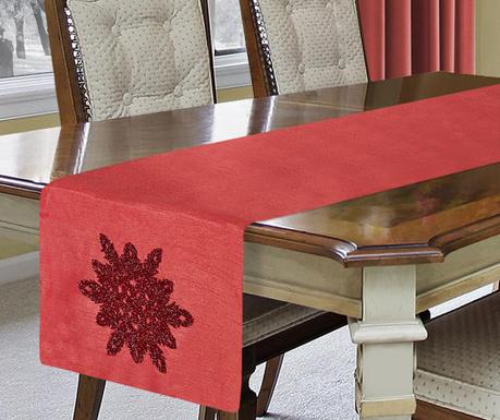 Bieżnik stołowy Star Red 40x140 cm
