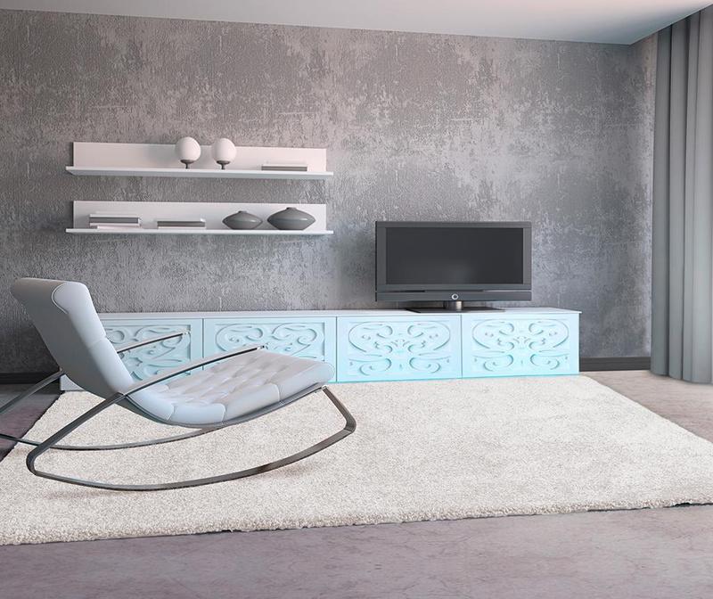 Koberec Aqua White 100x150 cm
