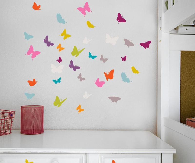 Set 18 nalepk Butterflies